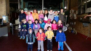 Class Picture in Front of Fire Truck